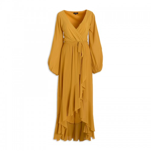 Yellow Frill Dress -