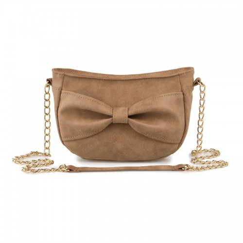 Camel Bow Bag -