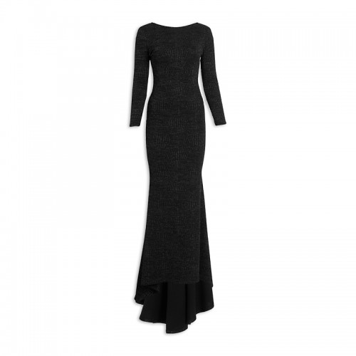 Black Fishtail Maxidress -