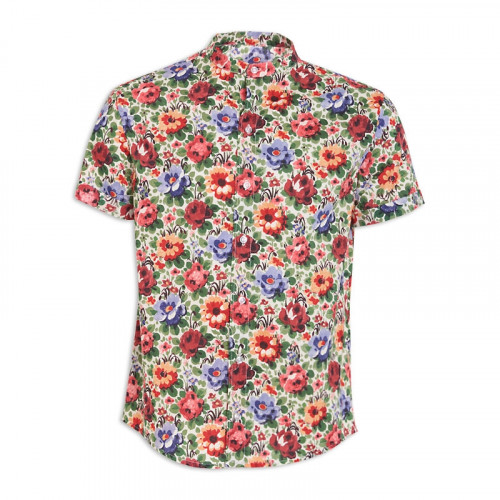 Floral Print Short Sleeve Shirt -