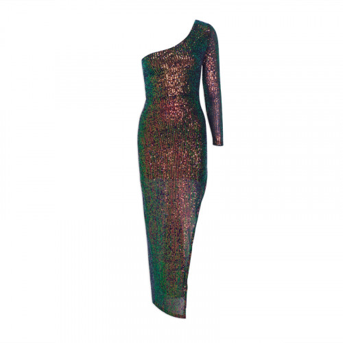Peacock Asymmetrical Dress -