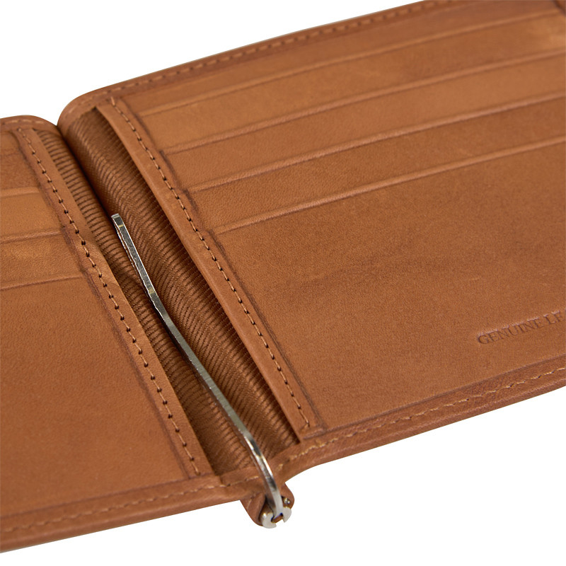 Tan Leather Inset Wallet -