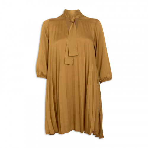 Mustard Pleated Tunic -