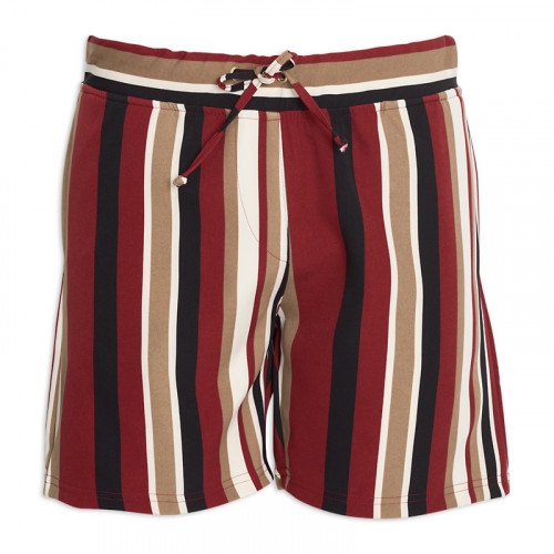 Wine Stripe Jogger Short -