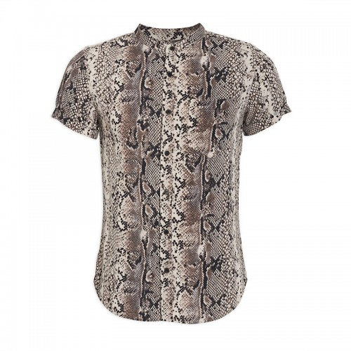 Snake Print Short Sleeve Shirt -
