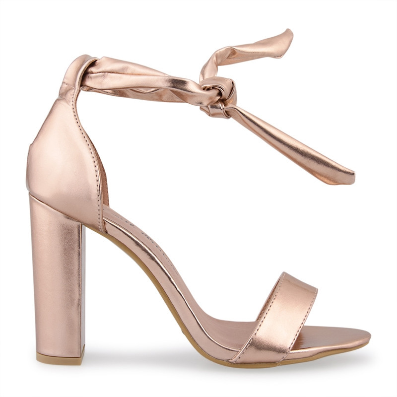 Rose Gold Metallic Sandal -