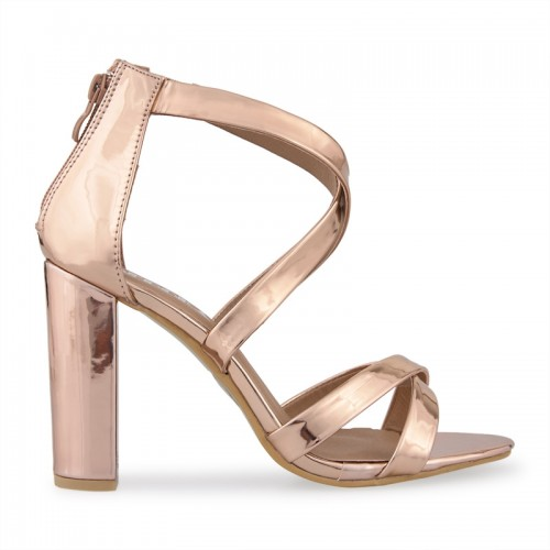 Rose Gold Chrome Sandal -