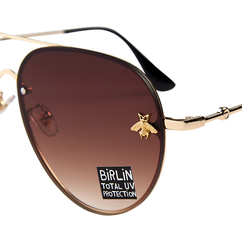 Brown Aviator Sunglasses -