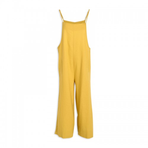 Yellow Linen Pinafore -
