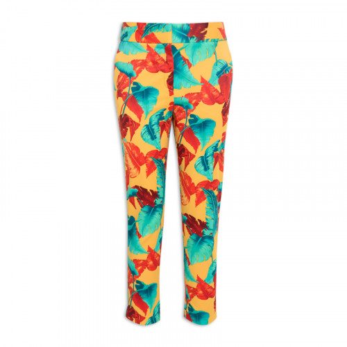 Yellow Palm Trouser -