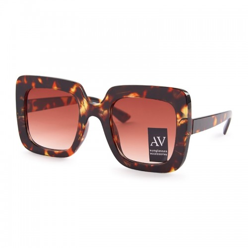 Brown Square Sunglasses -