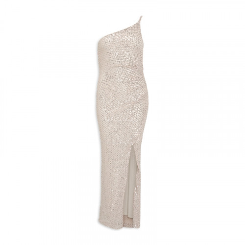Silver/Nude Sequin Dress -