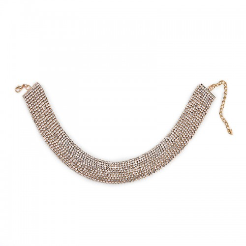 Multi Strand Diamante Choker -