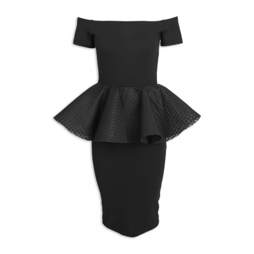 Black Peplum Dress -