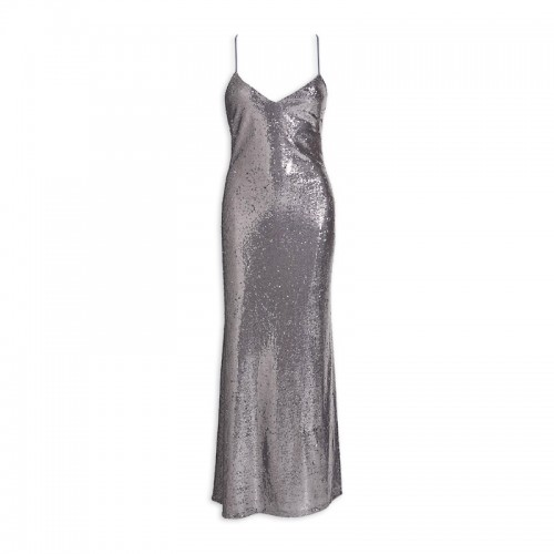 Silver Sequin Dress -