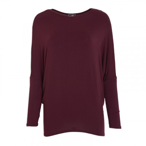 Burgundy Basic Top -