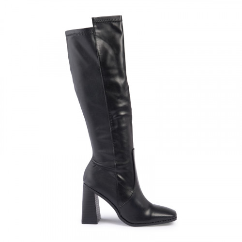 Black PU High Boot -