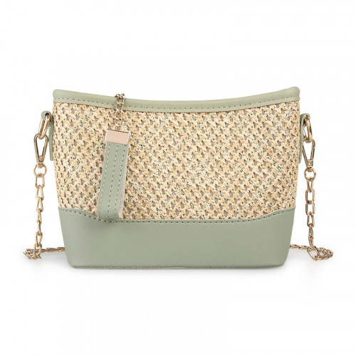 Sage and Straw Clutch Bag -