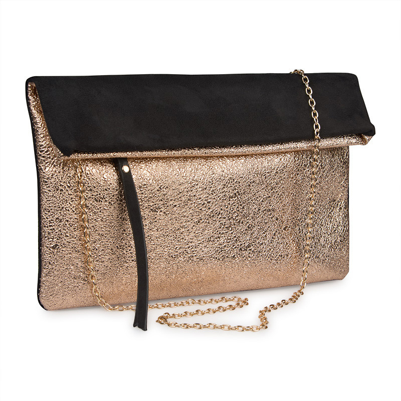 Black and Metallic Clutch -