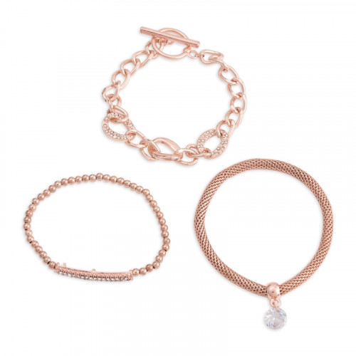 Rose Gold Wrist 3Pack -