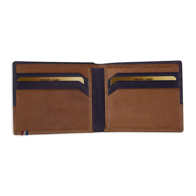 Two Tone Leather Wallet -