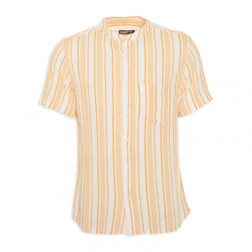 Mustard Stripe Short Sleeve Shirt -