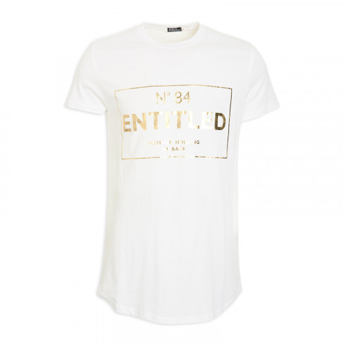 White Printed Crew T-Shirt -