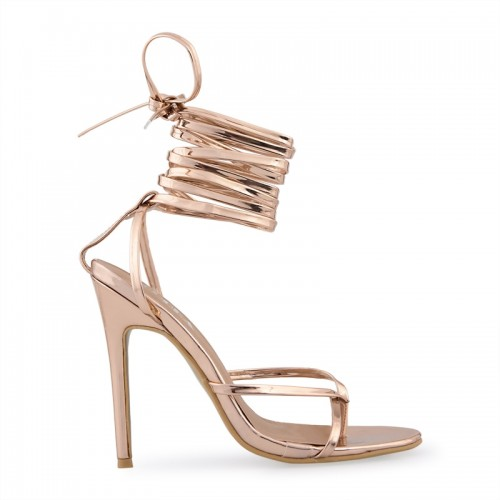 Rose Gold Toe Post Sandal -