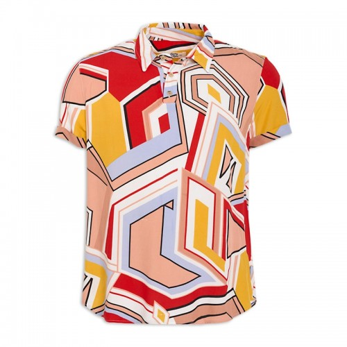 Multi Print Short Sleeve Shirt -
