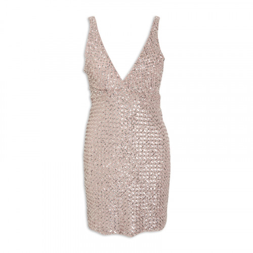 Nude Diamond Dress -