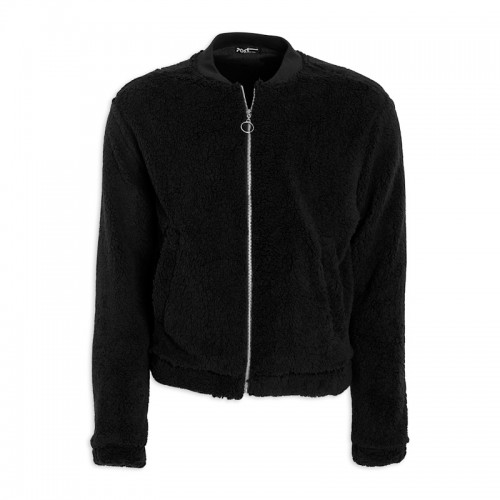 Black Fleece Bomber Jacket -