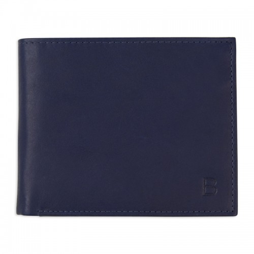 Navy Leather Wallet -