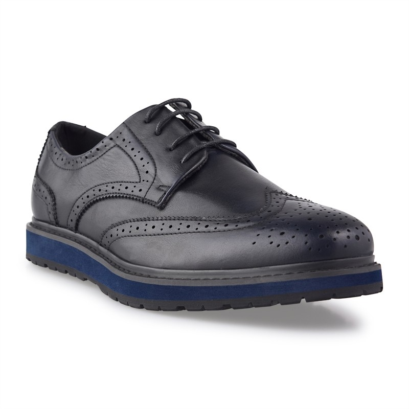 Black Lace-up Brogues -