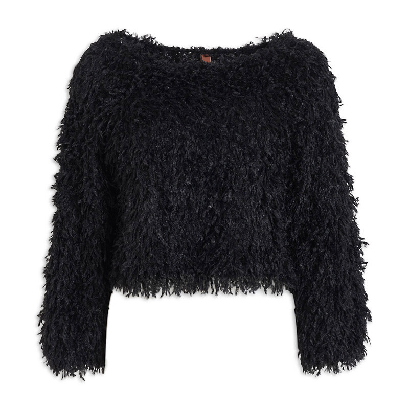 Black Shaggy Knit -