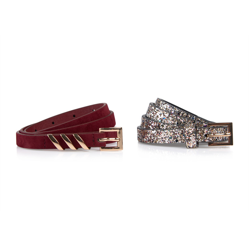 Burgundy 2Pack Belt -