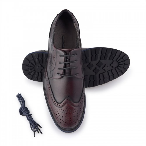 Burgandy Lace-up Brogues -