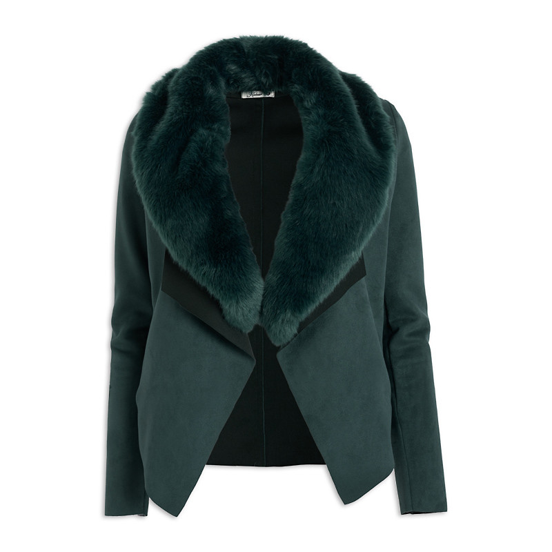 Emerald Faux Fur Jacket -