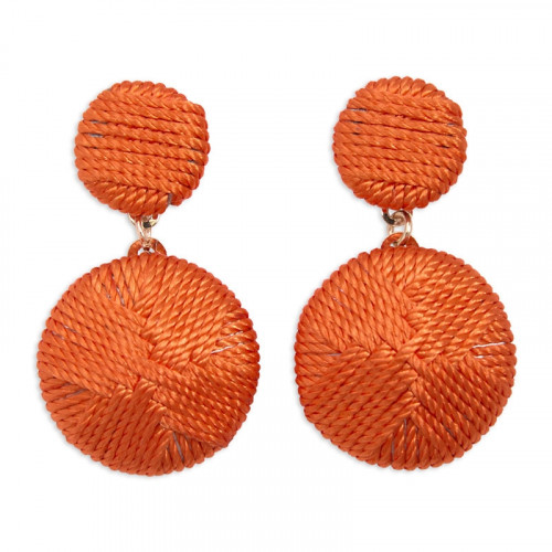Orange Textured Earrings -