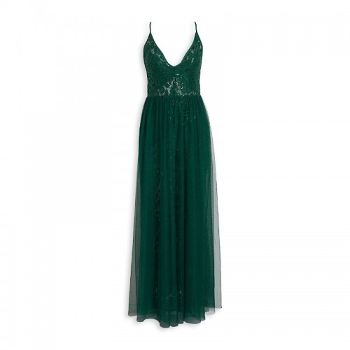 Emerald Tulle Dress -
