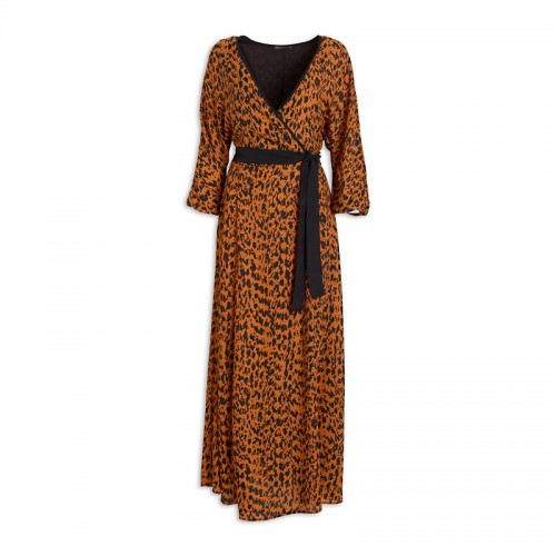 Animal Wrap Dress -