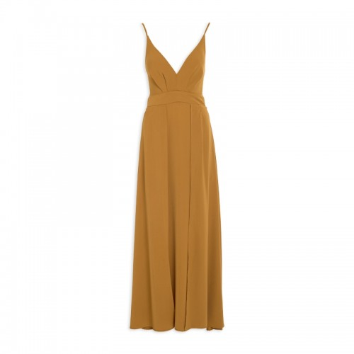 Mustard Knot-Back Dress -