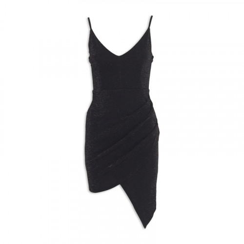 Black Sparkle Asymmetrical Dress -