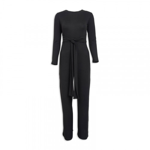 Black Knit Jumpsuit -