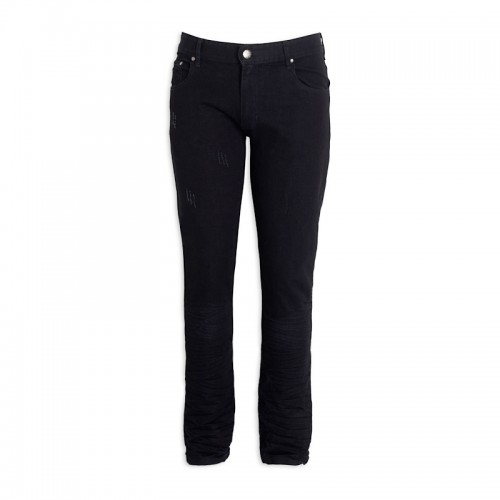 Black Crushed Jeans -