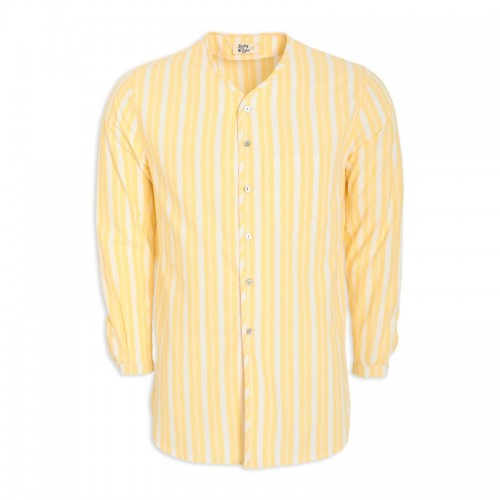 Yellow Stripe Tunic Shirt -