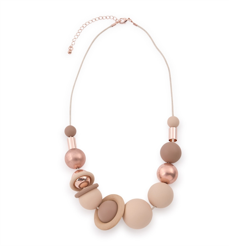 Pink Ball Necklace -