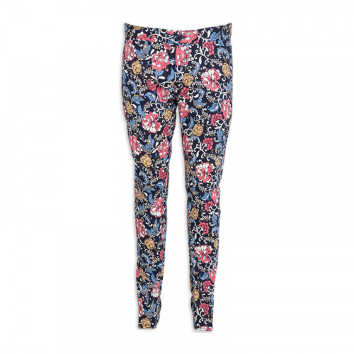 Navy Floral Trouser -