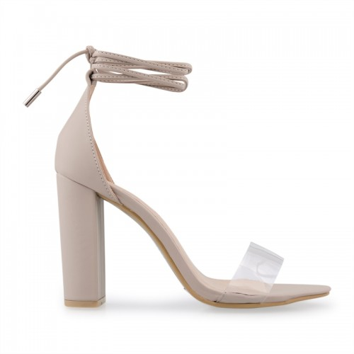Nude Ankle Strap Sandal -