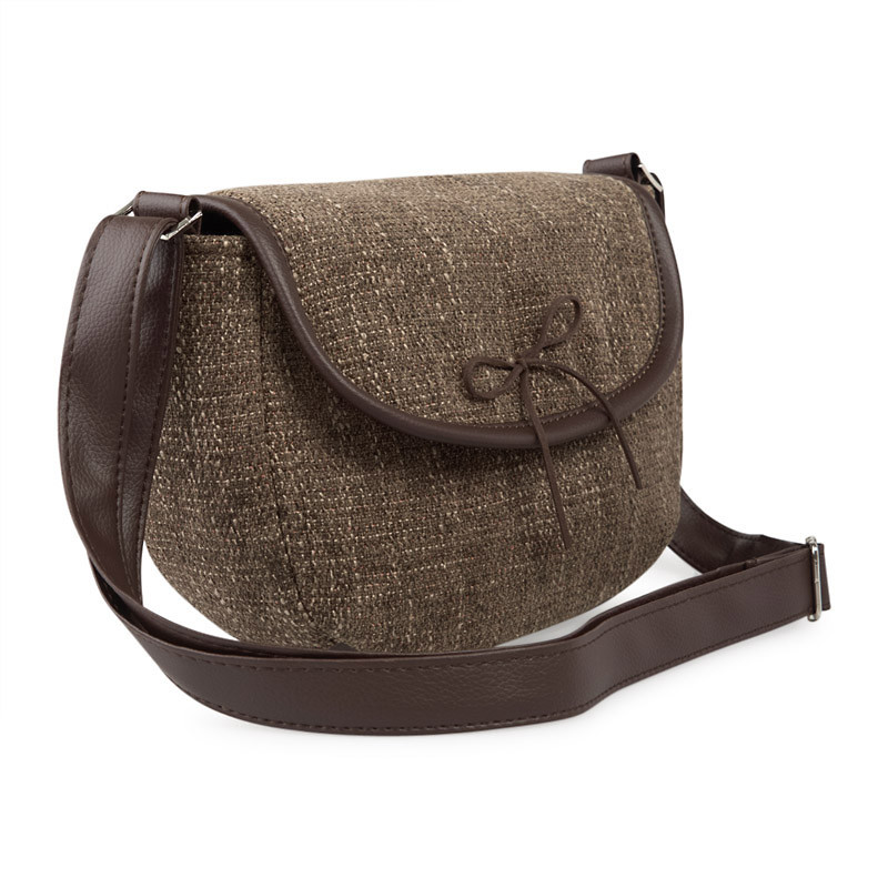 Brown Tweed Bag -