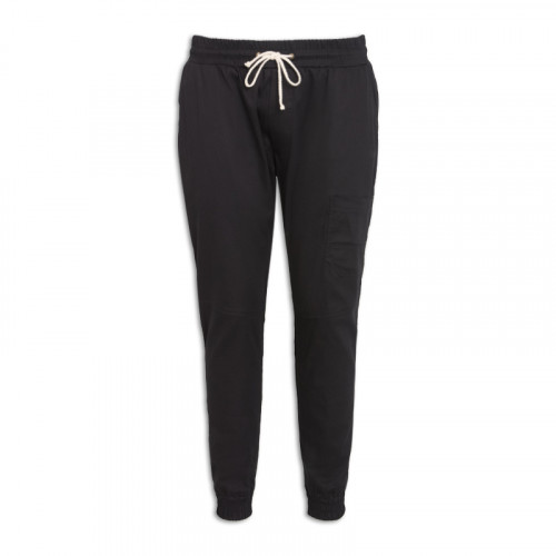 Black Elasticated Cuff Trouser -